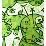 SOLD - TANGLED BIRDS Acrylic on canvas 60 x 122cm *SOLD
