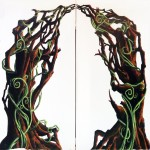 'Into the woods' vine archway.