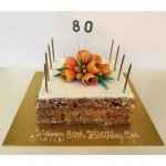 Opa's 80th 4 tiered Ombre Cake
