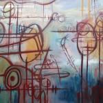 """""""Fetch"""" - Acrylic on canvas 121cm x121cm"""